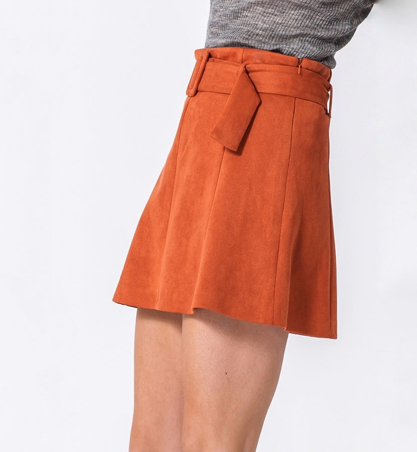 Cler Suede Skirt