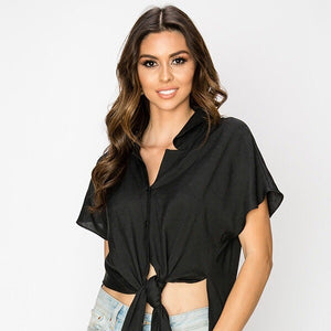 Iris Button Top - SOИDER BOUTIQUE