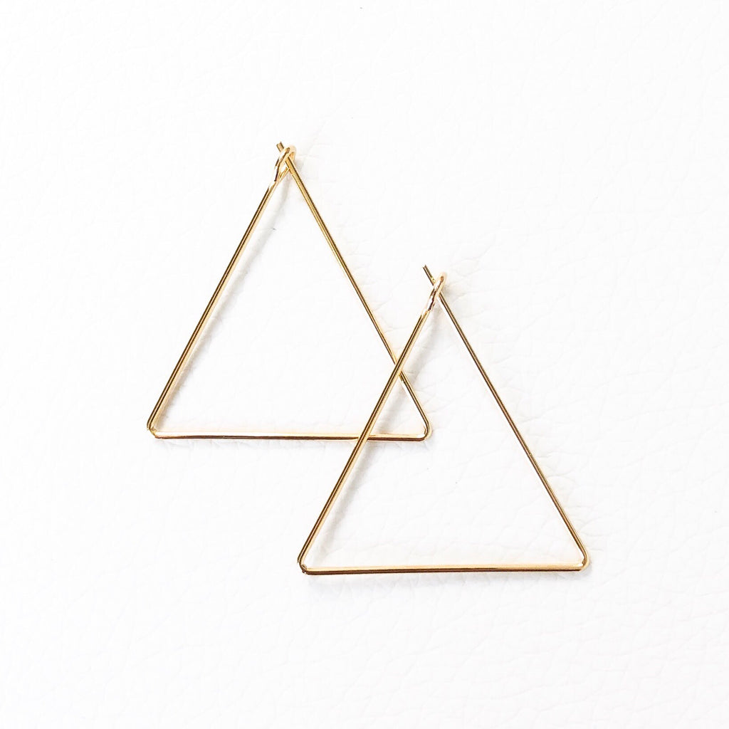 Triangle Hoop Earrings - SOИDER BOUTIQUE
