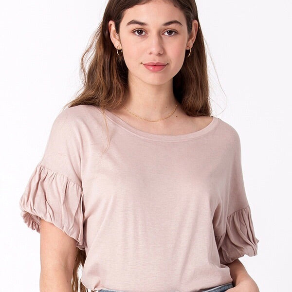 Camellia Puff Sleeve Top - SOИDER BOUTIQUE