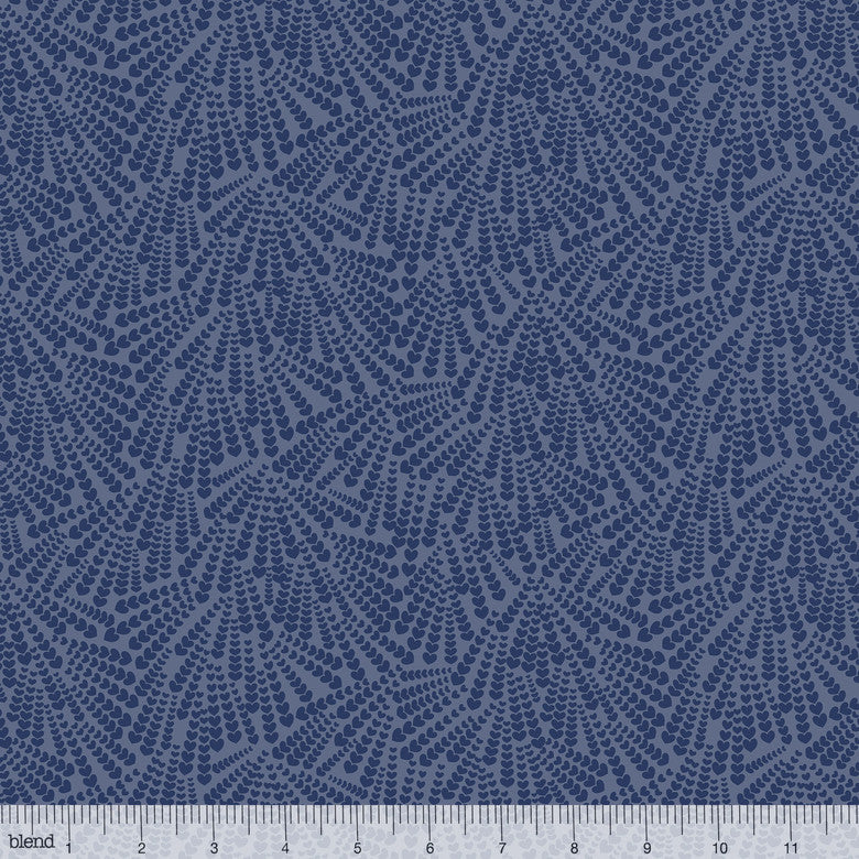 COTTON - Chasing Rainbows - Love Notes Navy - Blend Fabrics (1/2 yard)