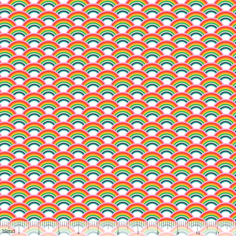 COTTON - Chasing Rainbows - Over the Rainbow Multi - Blend Fabrics (1/2 yard)