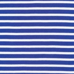 "KNIT - Colourful Stripes Blue - Cloud 9 Organic interlock knit 54"" (1/2 yard)"