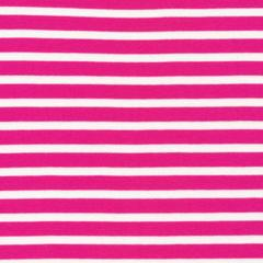 "KNIT - Colourful Stripes Pink - Cloud 9 Organic interlock knit 54"" (1/2 yard)"