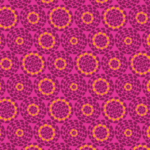 COTTON - Dashwood Studios - Belle Epoque Floral Fushia (1/2 yard)