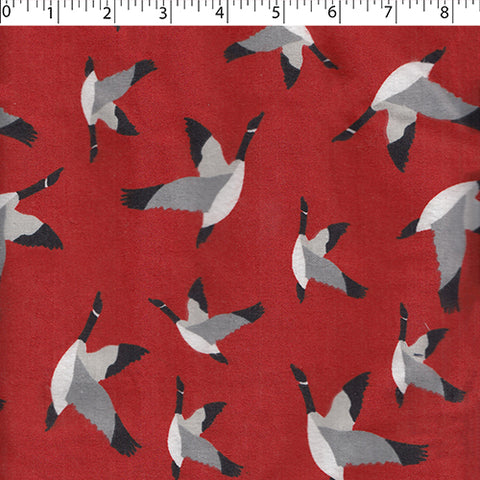 Flannelette - Red Canada Goose (1/2 yard)