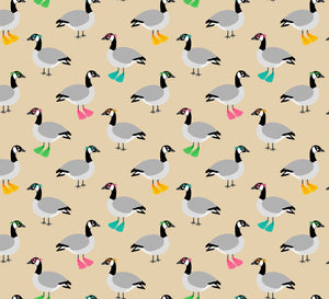 COTTON - Robert Kaufman - Summer BBQ - Purely Canadian eh? - Goggle Geese -  (1/2 yard)