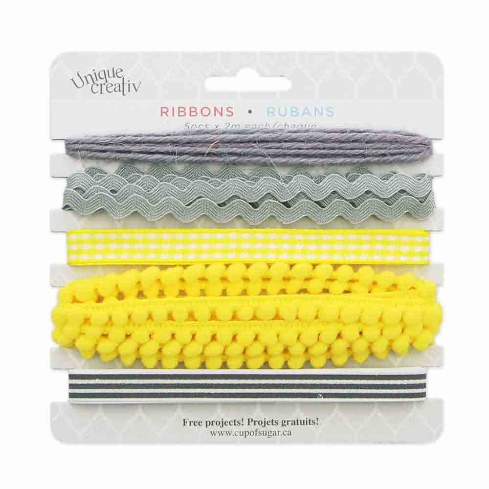 Assorted Trim Pack - YELLOW/GREY