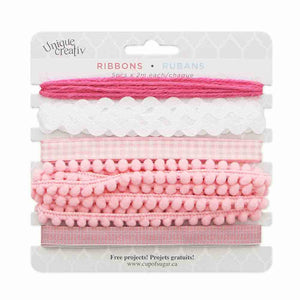 Assorted Trim Pack - PINK/WHITE