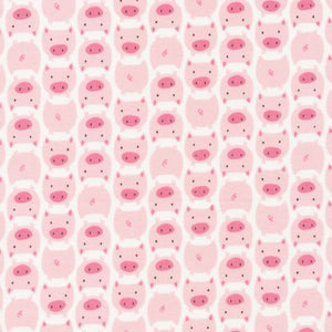 ORGANIC COTTON - quilting/poplins - Dolittles - Cloud9 Organic Cotton - PIGS (1/2 yard)