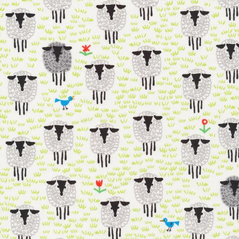 ORGANIC COTTON - Cloud 9 fabrics - Sheep - ED EMBERLEY FAVORITES (1/2 yard)