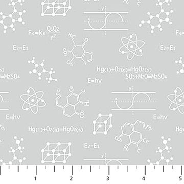 COTTON - Big Bang Equations - Northcott - (1/2 yard)