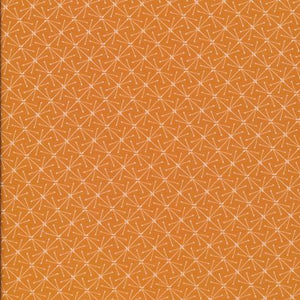 ORGANIC COTTON - Cloud 9 fabrics - Sparks Orange - Lisbon Square (1/2 yard)