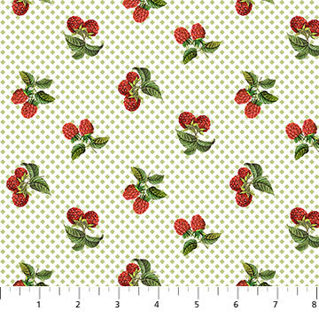 COTTON - Northcott - Briarwood - Raspberries  (1/2 yard)