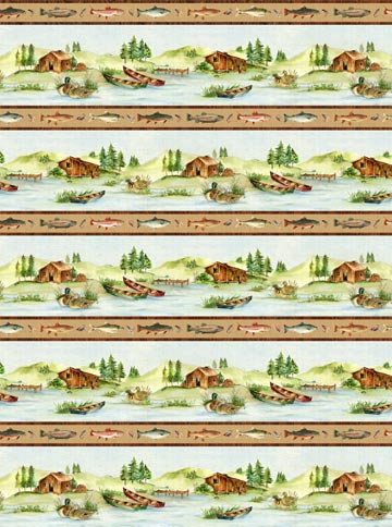 COTTON - Northcott -Stoney River Oversize Repeat (1/2 yard)