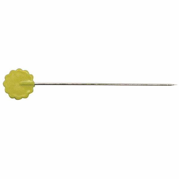 Heirloom quilting flathead pins - yellow - 100pcs - 50mm (2″)