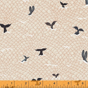 whale tales fabric