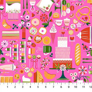 COTTON - FIGO fabrics - Rolling Pin - Pink Sweets (1/2 yard)