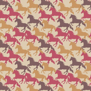 COTTON - Lewis & Irene - Farley Mount - Gallop on Natural (1/2 yard)