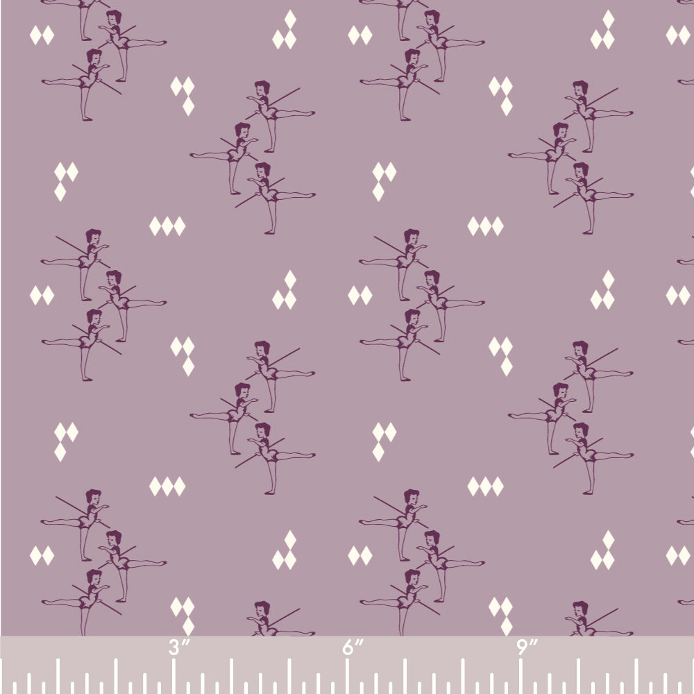 ORGANIC COTTON - quilting/poplins - Pirouette - ARABESQUE LAVENDER - Birch Organic Fabric (1/2 yard)