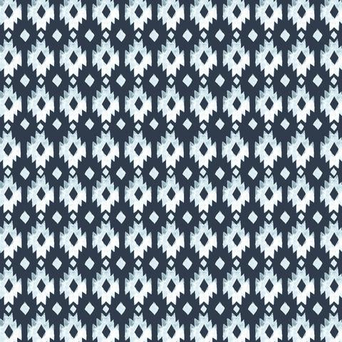 ORGANIC COTTON - Aztec Diamond Poplin - 100% GOTS-certified organic cotton fabric - Monaluna