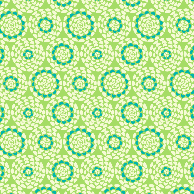 COTTON - Dashwood Studios - Belle Epoque Floral Lime (1/2 yard)