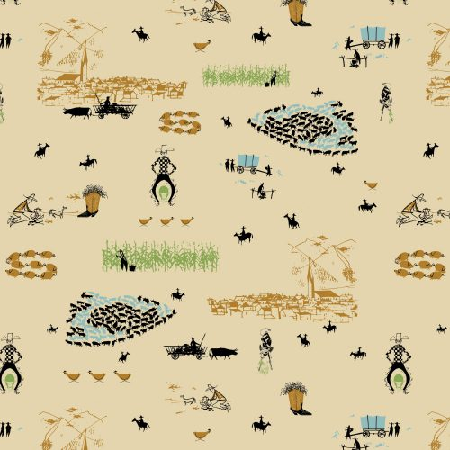 Fat Quarter Bundle - New Frontier - Birch Organic Fabric - 10 pieces
