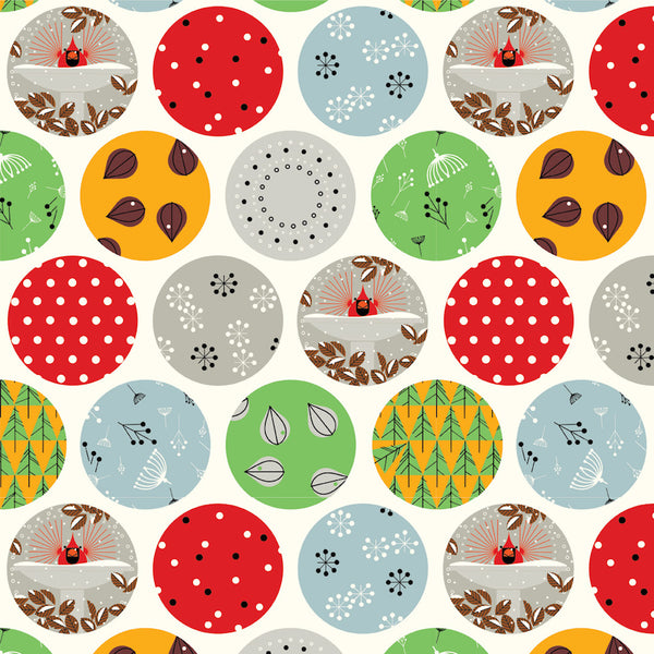 Fat Quarter Bundle - Charley Harper Holidays - Birch Organic Fabric - 10 pieces