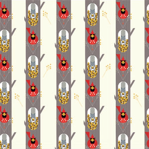 ORGANIC COTTON - quilting/poplins - Charley Harper - October Edibles - Birch Organic Fabric (1/2 yard)