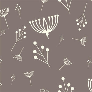 ORGANIC COTTON - quilting/poplins - Charley Harper - Twig Fall Shroom - Birch Organic Fabric (1/2 yard)