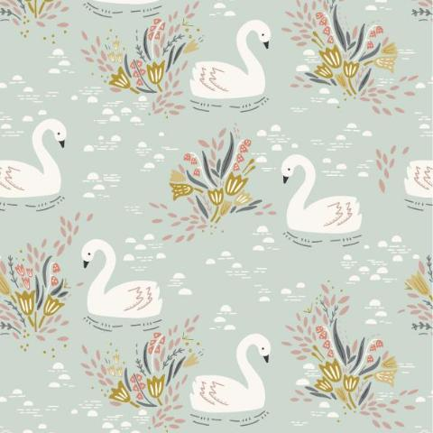 COTTON - Dashwood Studios - Swan - Dovestone (1/2 yard)