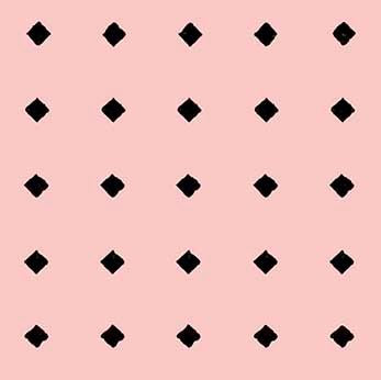 COTTON - Diamond Dot Light Pink - Quilting Treasures (1/2 yard)