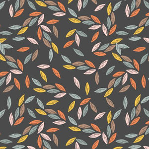 COTTON - Emi And The Bird - Leaves - Dashwood Studios (1/2 yard)