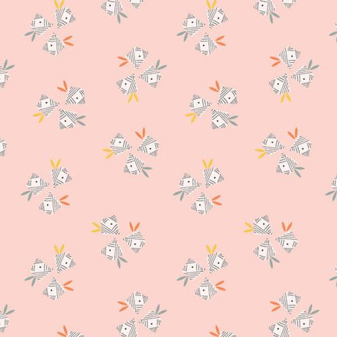 COTTON - Emi And The Bird - Light Pink - Dashwood Studios (1/2 yard)