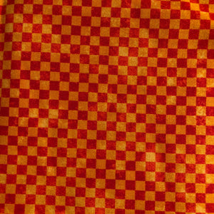 COTTON - Northcott - Monster Truck Madness - Orange Checker (1/2 yard)