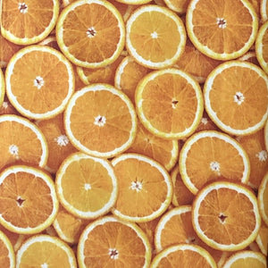COTTON - food - ORANGES - Quilting weight