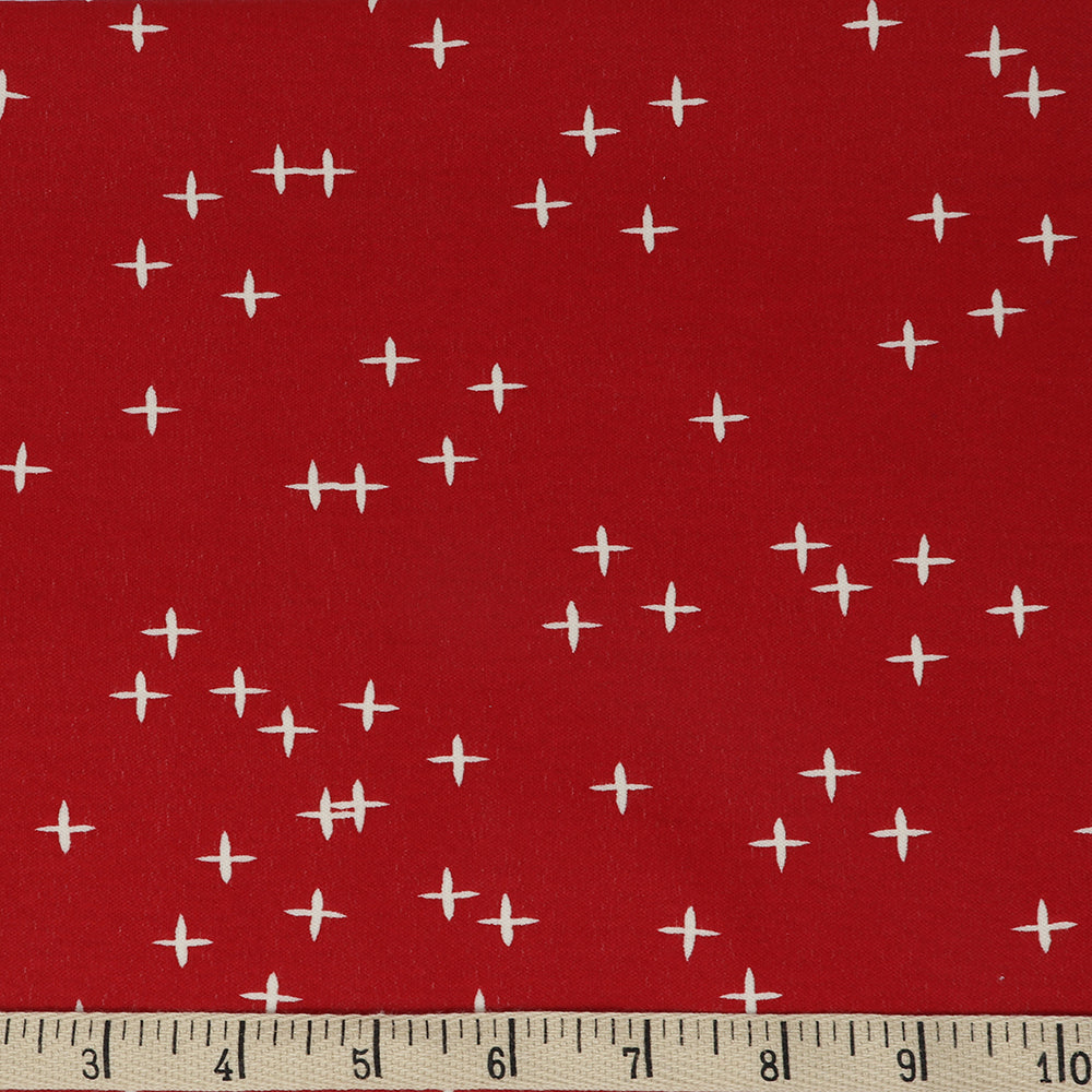 KNIT - WINK in RUBY - Birch Organic Fabric - (1/2 yard)