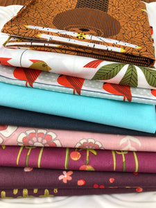 Fat Quarter Bundle -  ORGANIC COTTON sampler - 9 pieces