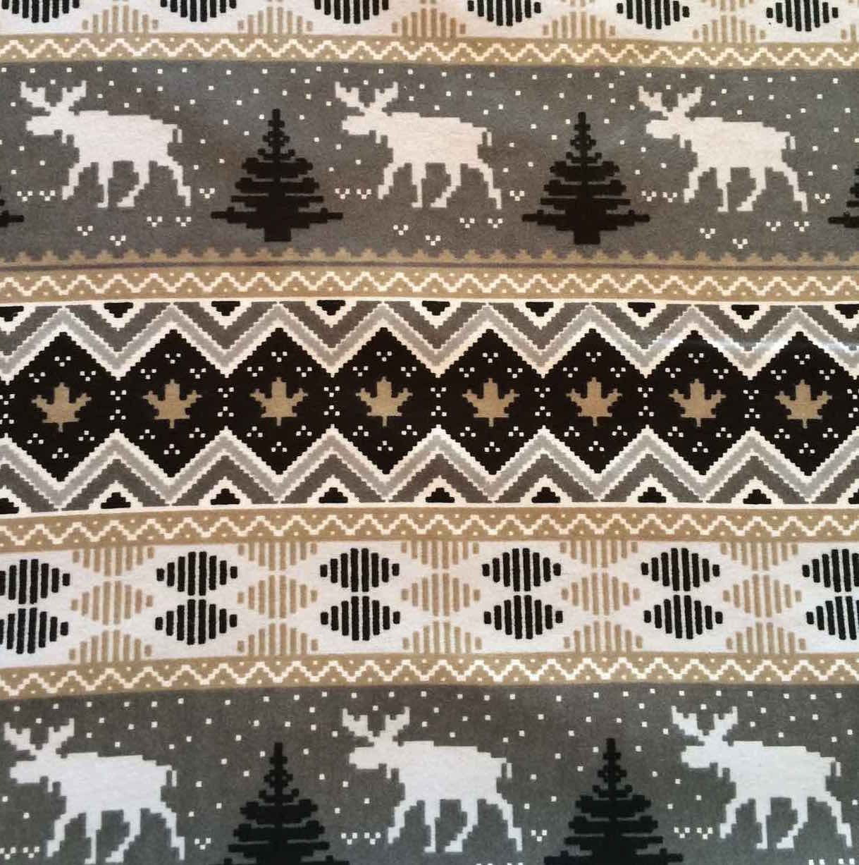 Flannelette - Natural Canadian Moose (1/2 yard)