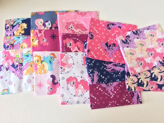 My Little Pony Fabric, Fat quarter precut bundle