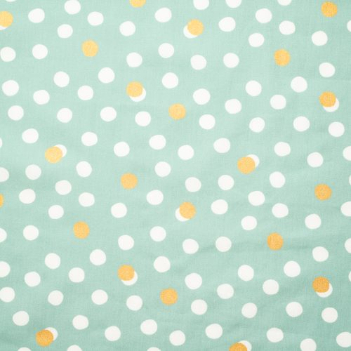 ORGANIC COTTON - quilting/poplins - Mochi Dot Mineral / Metallic Gold Poplin - Birch Organic Fabric (1/2 yard)