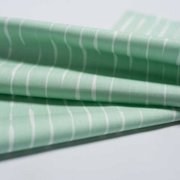 ORGANIC COTTON - quilting/poplins - Stroke Mint - Jenny Ronen Basics - Birch Organic Fabric (1/2 yard)