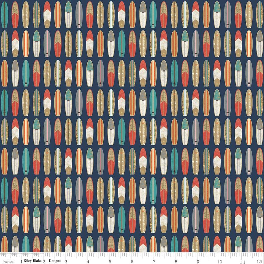 COTTON - Riley Blake - Offshore 2 - Surfboard (1/2 yard)