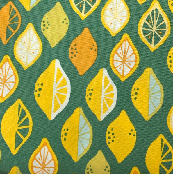 Organic Canvas COTTON - CANVAS - Monaluna Organic - Lemon Lime - (1/2 yard)