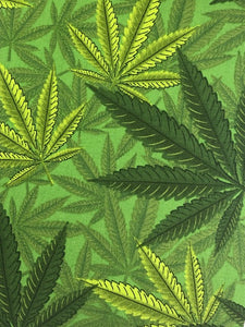 COTTON - Mary Jane Prints - Green