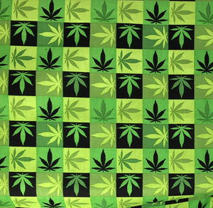 marijuana leaf fabric