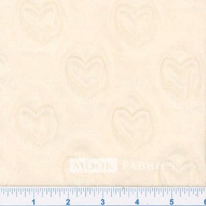 Mook Softee Heart Ivory - **lower pile (1/2 yard)