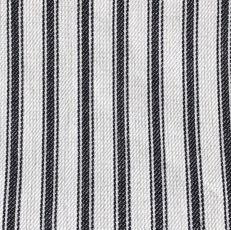 TICKING style Ebony Stripe - 100% Cotton - light upholstery - (1/2 yard)