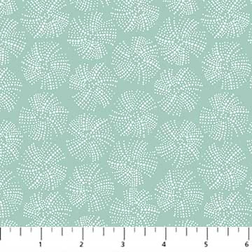 COTTON - FIGO fabrics - Sea Botanica - Urchin Texture Mint (1/2 yard)