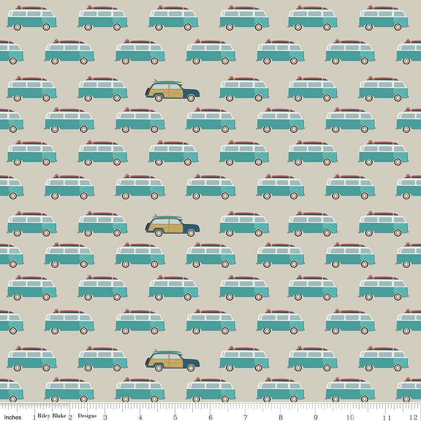 COTTON - Riley Blake - Offshore 2 - Wagons (1/2 yard)
